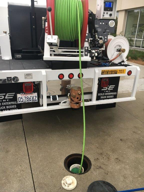 An image of DC Drains hydro jetting in Orange County.